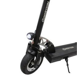 Trottinette électrique Mobygum 1000 roue avant gauche et lumière avant