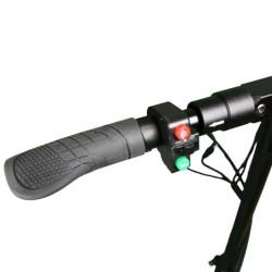 Trottinette électrique Mobygum 500 boutons de commande clignotant lumières et klaxon